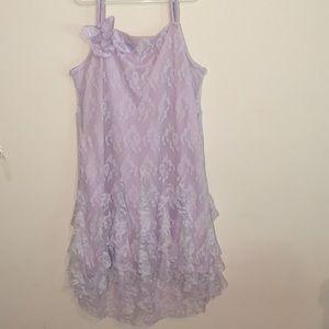 Biscotti Formal Purple Lace Dress
